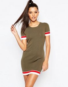 Missguided Knitted Contrast Body-Conscious Dress