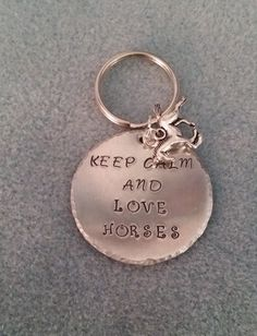Keep calm and love horses by SaraJayneDesigns on Etsy