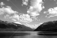 Lake Rotoiti, Nelson Lakes National Park, NZ Royalty Free Stock Photo Image Now, Nature Photos, Lakes, New Zealand, Monochrome, National Parks, Royalty Free Stock Photos, Black And White, Beach