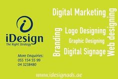 IDesign Advertising LLC — Based in Dubai, and serving clients in an ever more competitive environment around the world, we are fully in tune with the demands of those companies we work with, and strive to deliver the most dynamic ways of working to build brand and product awareness which in turn adds value to client propositions and products through new customer acquisition over multiple platforms for synergistic integration. This allows you to focus on your business, while we focus on…