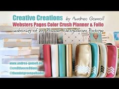 Websters Pages Color Crush Planner – Unboxing » Creative Creations by Andrea Gomoll