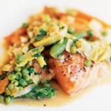 Poached Salmon with Saffron Sauce Recipe | SAVEUR