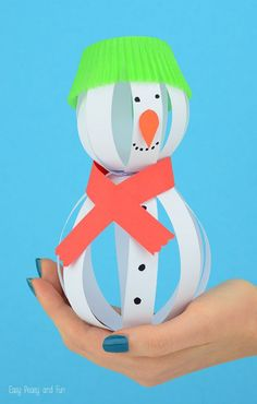 zimowe prace plastyczne bałwan 3d