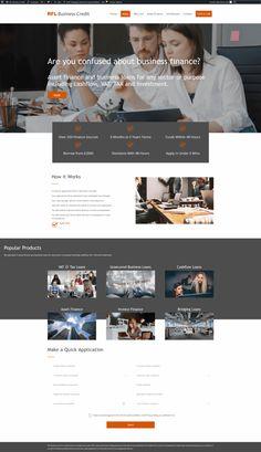 Website design for new Chester credit brokers RFL Business Finance Chester, Finance, Web Design, Website, Business, Movie Posters, Movies, Design Web, Films
