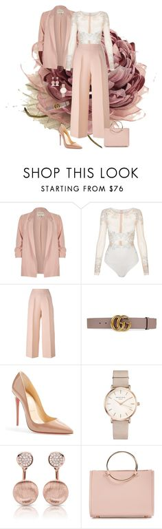 """#286"" by indubitablykarol ❤ liked on Polyvore featuring River Island, La Perla, Fendi, Gucci, Christian Louboutin, ROSEFIELD and Future Glory Co."
