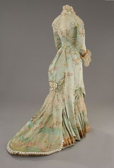 """Astounding dress used in The Age of Innocence which is set in the 1870s. This could also be considered a """"princess line"""" dress."""
