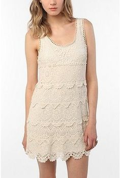 ShopStyle: Staring at Stars Tiered Crochet Tank Dress