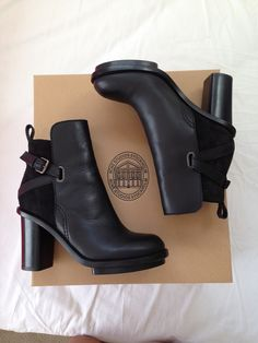 Acne Black Leather Ankle Boots for the Modern Gladiator Ankle Boots, Bootie Boots, Shoe Boots, Heeled Boots, Women's Shoes, Cute Shoes, Me Too Shoes, Platform Shoes, Look Fashion