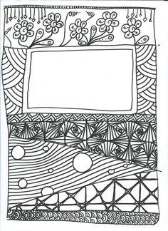 Gribouillages et coloriages en vrac Colouring Pages, Adult Coloring Pages, Coloring Sheets, Coloring Books, Art Education Lessons, Art Lessons, Doodles Sharpie, Zentangle, Diary Covers