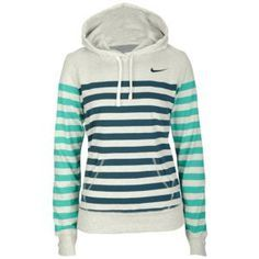 Nike Stripe Pullover Hoodie - Women's - Clothing duuuuuude!would these stripes make me look fat?