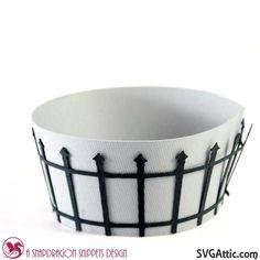 fence cupcake holder from SDS Ghostly Graveyard set #svgattic #svg