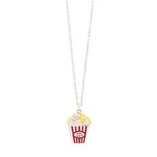 Popcorn and Crystal Necklace
