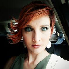 Orange hair short pixie Red style