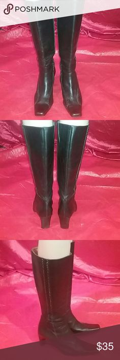 Ventage Genuine Leather Boots Italy made genuine leather vintage boots no damage very clean slightly used. Italy made Shoes Heeled Boots
