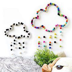 Designer handcrafted felt & felt balls decor & par StefCollections