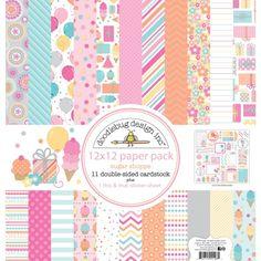 Doodlebug+Design+-+Sugar+Shoppe+Collection+-+12+x+12+Paper+Pack+at+Scrapbook.com
