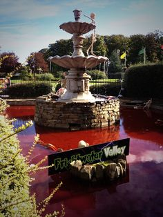 And the fountain ran red with blood...