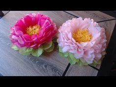 How to make tissue paper flower- super easy method/ Christmas decoration - YouTube