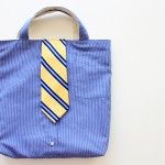 Turn a Men's Shirt/Tie into a Tote (aka: little boy church bag)  22 easter ideas #easterideas