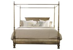 Gold Montage Canopy Bed, King…one kings lane