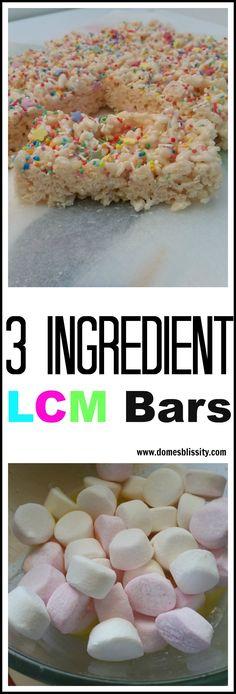 Domeblissity.com: Easy 3 Ingredient LCM Bars