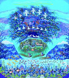 Esben Hanefelt Kristensen - Skabelse - Rejsende træ under tolv kometer 130x115 cm