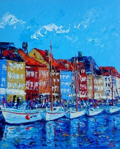 View Picturesque Nyhavn by Alena Shymchonak. Browse more art for sale at great prices. New art added daily. Buy original art direct from international artists. Shop now