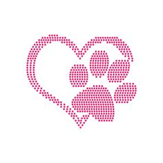 Digi-tizers Paw and Heart Rhinestone Pattern (SVG Studio V3 JPG)  We make shirts, vinyl decals, wall art, koozies and more! If you would like any of our designs on a different item than listed please send me a message and I will see if we can accommodate you. **Shirts are all either