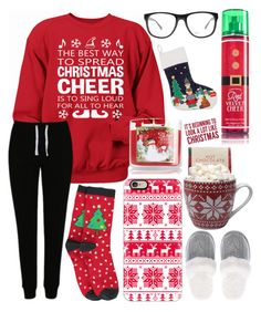 """""""I love the holidays ❤️"""" by jadenriley21 on Polyvore featuring George, Boohoo, Casetify, Victoria's Secret, Armani Exchange and Sixtrees"""