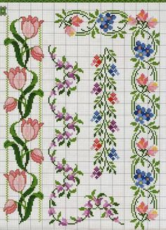 This Pin was discovered by Bar Cross Stitch Bookmarks, Cross Stitch Borders, Cross Stitch Rose, Cross Stitch Flowers, Cross Stitch Designs, Cross Stitching, Cross Stitch Embroidery, Cross Stitch Patterns, Tatting Patterns