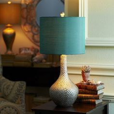 Honeycomb Lamp - Teal - would prefer a different color of lampshade, though