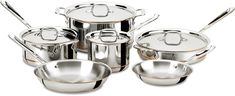 All-Clad 600822 SS Copper Core 5-Ply Bonded Dishwasher Safe Cookware Set, 10-Piece, Silver ^^ Awesome product. Click the image : Cookware Sets