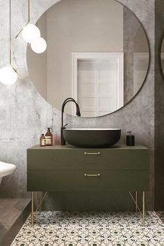 15 Modern Bathroom Mirror Ideas For Your Contemporary Home 2018 Wc ideas Badkamer spiegel Vessel sink bathroom Gäste wc Badezimmer waschtisch Waschtisch diy Modern Bathroom Design, Bathroom Interior Design, Minimal Bathroom, Bath Design, Bathroom Styling, Modern Bathroom Furniture, Modern Design, Simple Bathroom, Minimalist Design