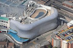 An aerial photograph of Birmingham's Bull Ring shopping centre Birmingham Bull Ring, West Midlands, Shopping Center, Aerial Photography, Aerial View, Centre, Commercial, England, Pictures