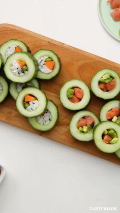 Sushi Recipes, Healthy Dinner Recipes, Healthy Snacks, Breakfast Recipes, Snack Recipes, Cooking Recipes, Tastemade Recipes, Snacks Für Party, Sushi Rolls