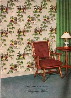 Vintage Wallpaper Catalog Montgomery Ward 1955 | eBay