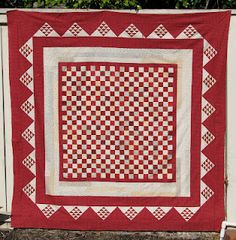 "The design is from Olde Green Cupboard, ""Chip off the Old Block"" made by Libby at Plain and Simple. love the red!"