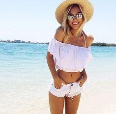 Short, Cool Shırt, Sunglasse, Beach Had, Sea, Summer, Holiday, Beach