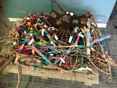 Creating Bunjil& Nest from Yarn Strong Sista for kids ? Childcare Activities, Activities For Kids, Outdoor Activities, Sculpture Projects, Art Projects, Aboriginal Education, Aboriginal Artwork, Kindergarten Centers, Indigenous Art