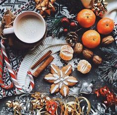 christmas, winter, and coffee resmi