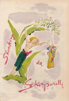 Shocking de Schiaparelli #vintage #perfume #ad art by Marcel Vertes