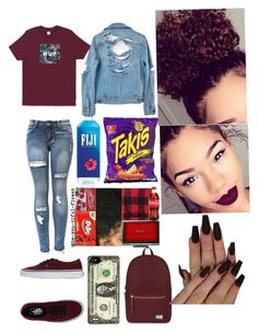 """HUF"" by jewelz0383 on Polyvore featuring High Heels Suicide, Herschel Supply Co. and Vans"