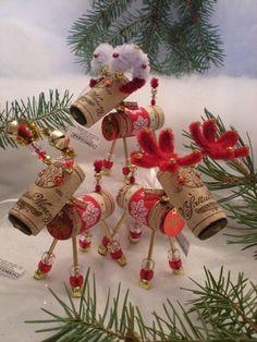 WINE CHRISTMAS ORNAMENT  WinedeerVery Merry by WineToTheNines, $18.95