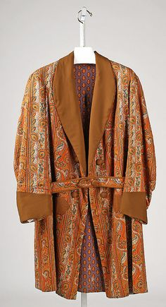 Smoking jacket | United States, 1860-1870 | Material: cotton | The Metropolitan Museum of Art, New York