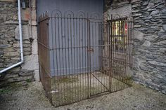 reclaimed wrought iron kennel railings, victorian dog run,