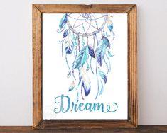 Dreamcatcher print dreamcatcher art dream catcher by AdornMyWall