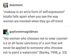 Here's the thing: I get what they're saying here...but also why can't we just let women do whatever tf they want? Idk I'm pinning this to give myself a different perspective