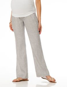 In love with these Secret Fit Belly� Linen Lightweight Wide Leg Maternity Pants from www.destinationmaternity.com