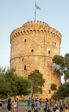 Dancing at the White Tower - Sunset - Thessaloniki Ancient Ruins, Ancient Greece, Places In Greece, Parthenon, Thessaloniki, Macedonia, Greece Travel, Greek Islands, Athens