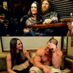 Brie and Daniel!! Nikki and John